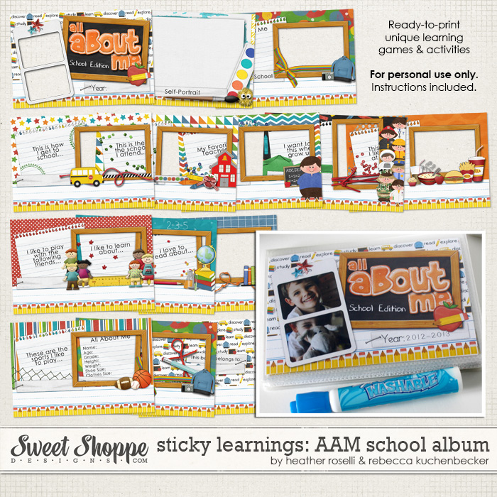Sticky Learnings: All About Me School Album by Heather Roselli& Rebecca Kuchenbecker