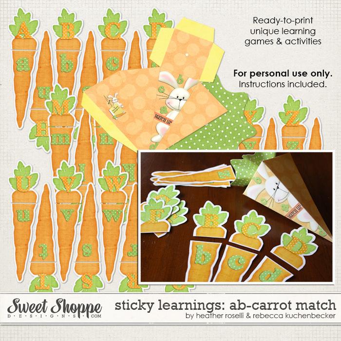 Sticky Learnings: AB-Carrot Match by Heather Roselli & Rebecca Kuchenbecker