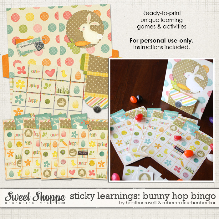 Sticky Learnings: Bunny Hop Bingo by Heather Roselli & Rebecca Kuchenbecker