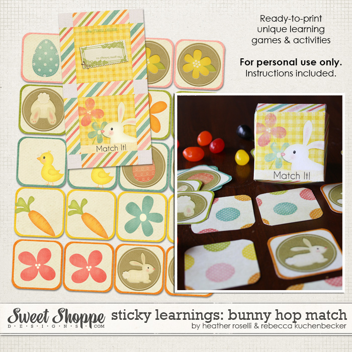Sticky Learnings: Bunny Hop Match by Heather Roselli & Rebecca Kuchenbecker