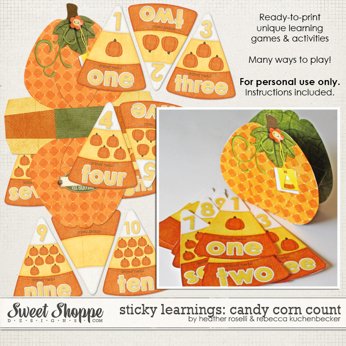 Sticky Learnings: Candy Corn Count by Heather Roselli & Rebecca Kuchenbecker