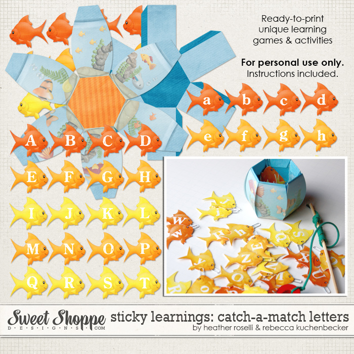 Sticky Learnings: Catch-A-Match Letters by Heather Roselli & Rebecca Kuchenbecker
