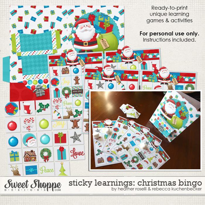 Sticky Learnings: Christmas Bingo by Heather Roselli & Rebecca Kuchenbecker