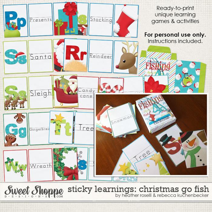 Sticky Learnings: Christmas Go Fish by Heather Roselli & Rebecca Kuchenbecker