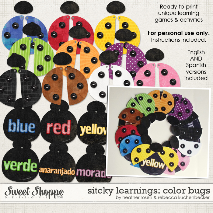 Sticky Learnings: Color Bugs by Heather Roselli & Rebecca Kuchenbecker