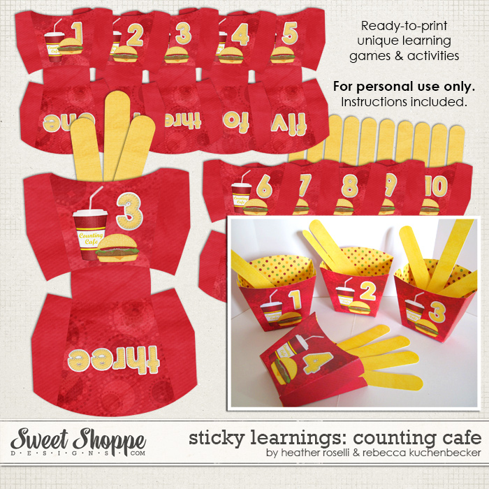 Sticky Learnings: Counting Cafe by Heather Roselli & Rebecca Kuchenbecker
