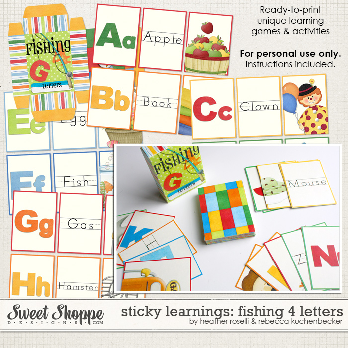 Sticky Learnings: Fishing 4 Letters by Heather Roselli & Rebecca Kuchenbecker