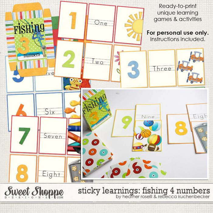 Sticky Learnings: Fishing 4 Numbers by Heather Roselli & Rebecca Kuchenbecker