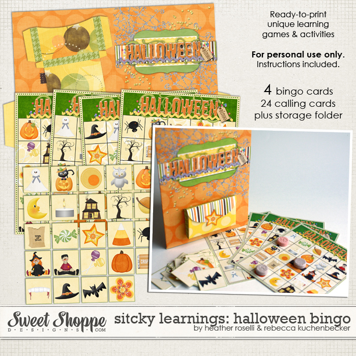 Sticky Learnings: Halloween Bingo by Heather Roselli & Rebecca Kuchenbecker
