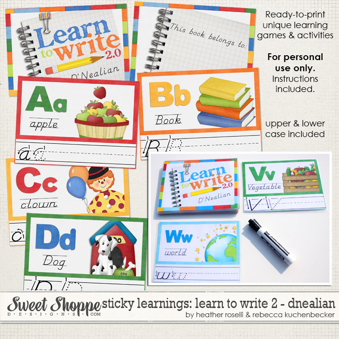 Sticky Learnings: Learn To Write - Dnealian by Heather Roselli & Rebecca Kuchenbecker