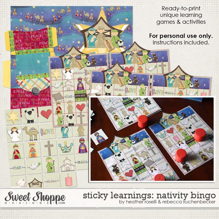 Sticky Learnings: Nativity Bingo by Heather Roselli & Rebecca Kuchenbecker