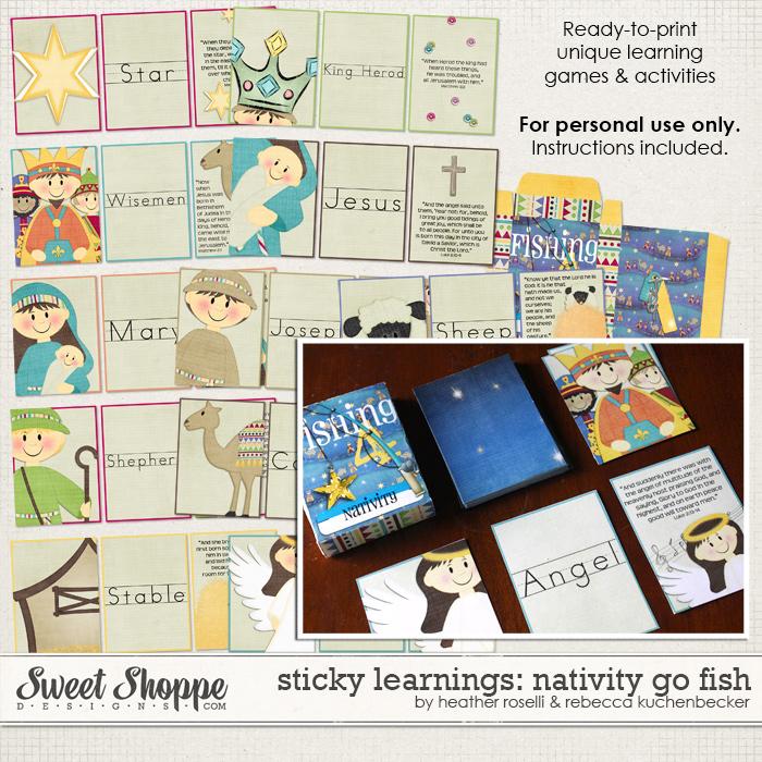 Sticky Learnings: Nativity Go Fish by Heather Roselli & Rebecca Kuchenbecker