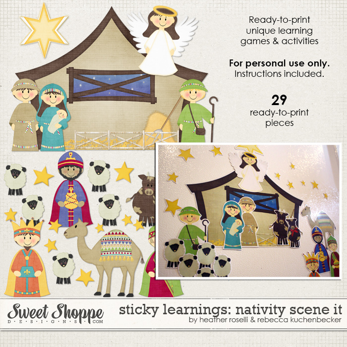Sticky Learnings: Nativity Scene It by Heather Roselli & Rebecca Kuchenbecker