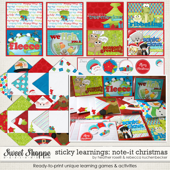 Sticky Learnings: Note It - Christmas by Heather Roselli & Rebecca Kuchenbecker