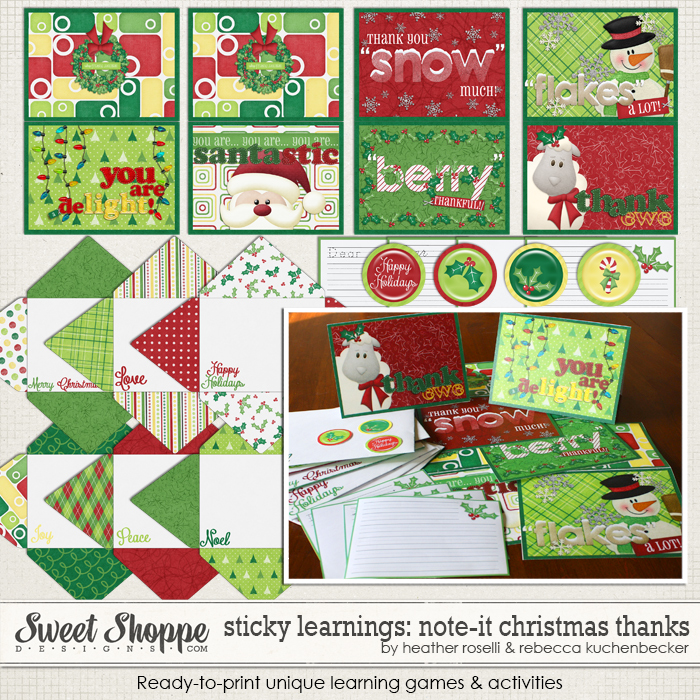 Sticky Learnings: Note It - Christmas Thanks by Heather Roselli & Rebecca Kuchenbecker