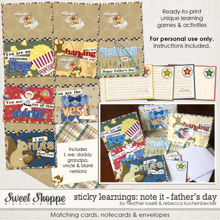 Sticky Learnings: Note It Father's Day Cards by Heather Roselli & Rebecca Kuchenbecker