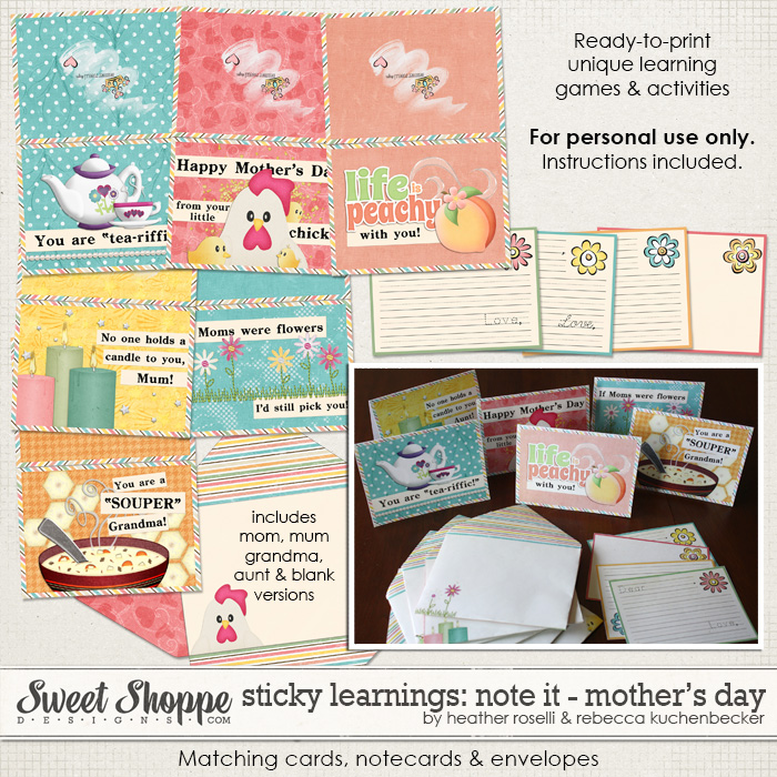 Sticky Learnings: Note It - Mother's Day by Heather Roselli & Rebecca Kuchenbecker
