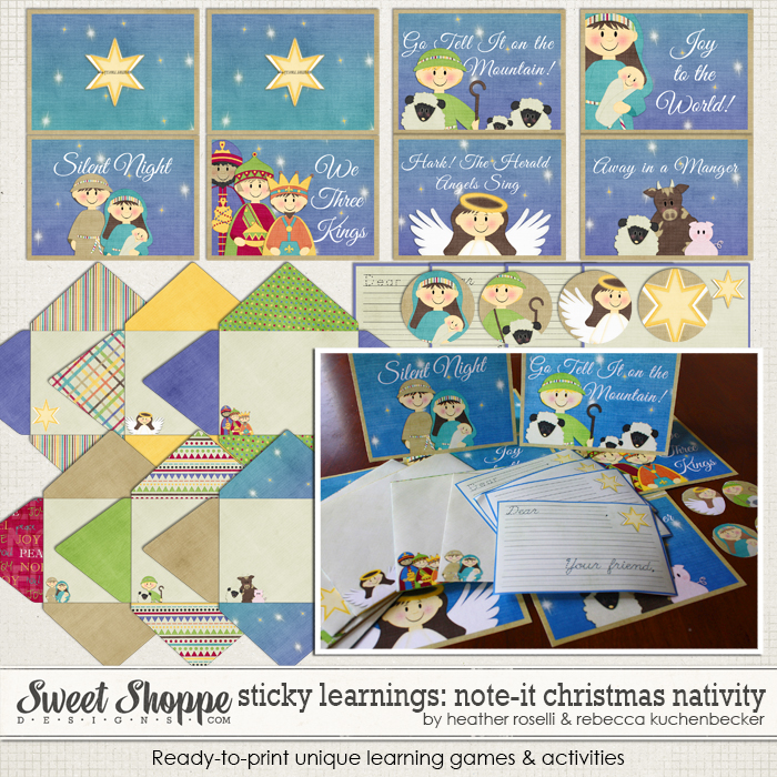 Sticky Learnings: Note It - Nativity by Heather Roselli & Rebecca Kuchenbecker