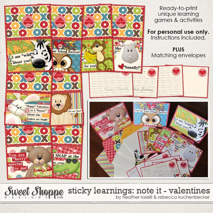 Sticky Learnings: Note It - Valentines by Heather Roselli & Rebecca Kuchenbecker