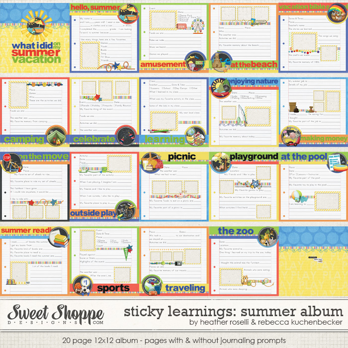Sticky Learnings: Summer Album by Heather Roselli & Rebecca Kuchenbecker