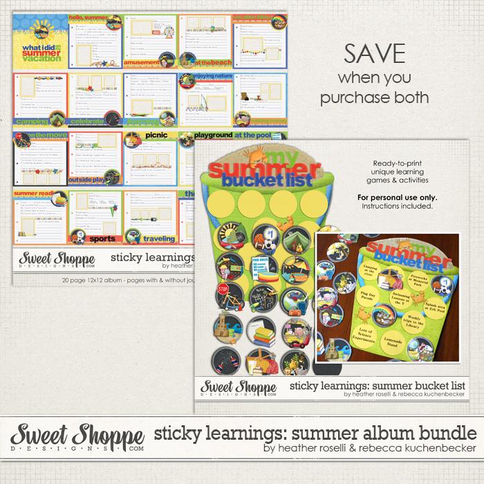 Sticky Learnings: Summer Album Bundle by Heather Roselli & Rebecca Kuchenbecker