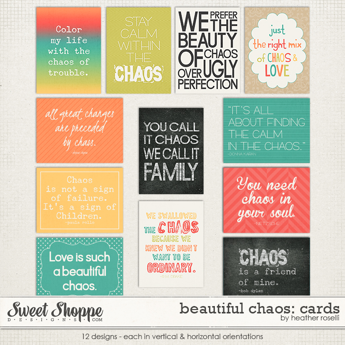Beautiful Chaos: Cards by Heather Roselli