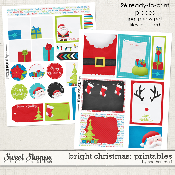 Bright Christmas: Printables by Heather Roselli