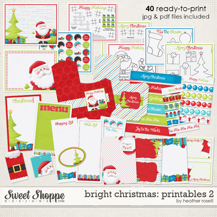 Bright Christmas: Printables 2 by Heather Roselli
