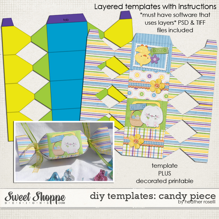 DIY Printable Templates: Candy Piece by Heather Roselli