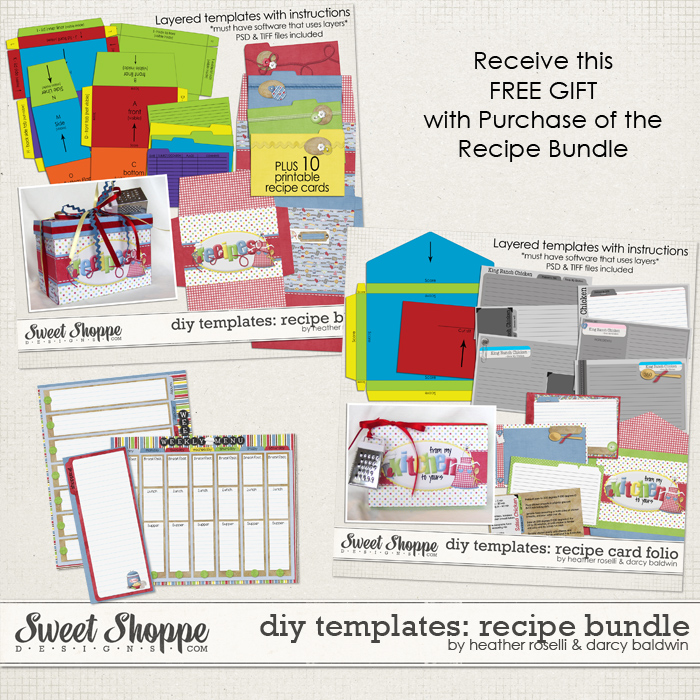 DIY Printable Templates: Recipe Bundle by Heather Roselli & Darcy Baldwin