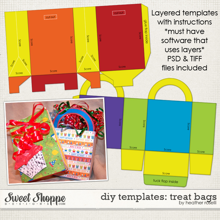 DIY Printable Templates: Treat Bags by Heather Roselli