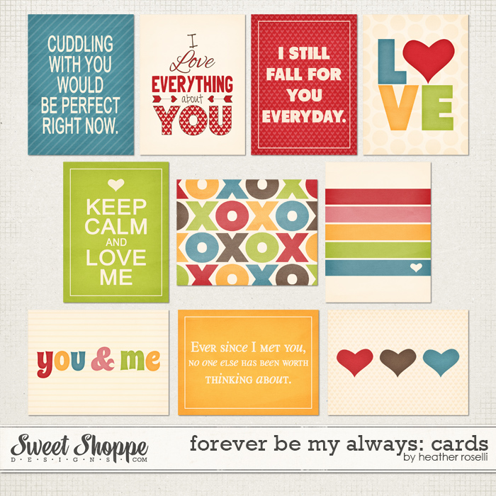Forever Be My Always: Cards by Heather Roselli