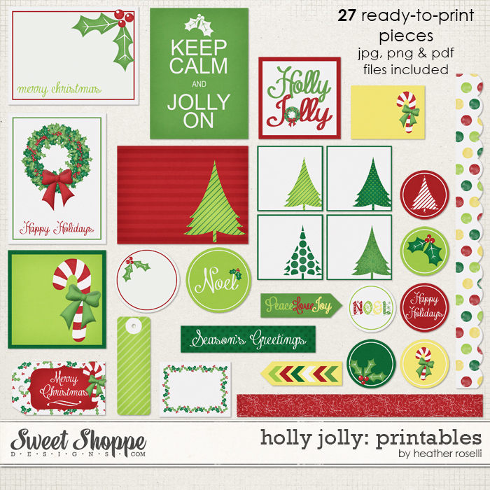 Holly Jolly: Printables by Heather Roselli