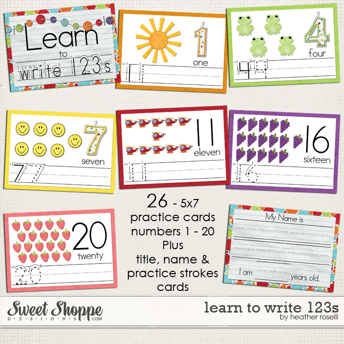 Learn to Write 123s by Heather Roselli