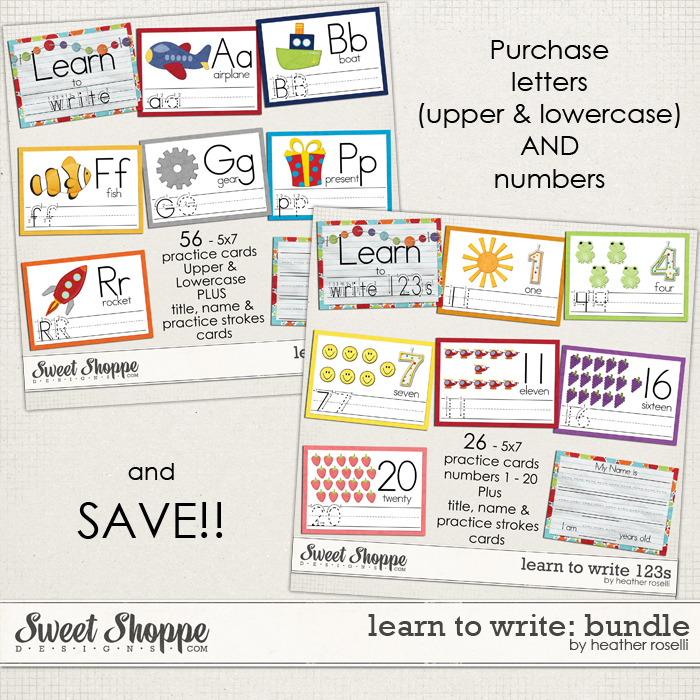 Learn to Write: Bundle by Heather Roselli