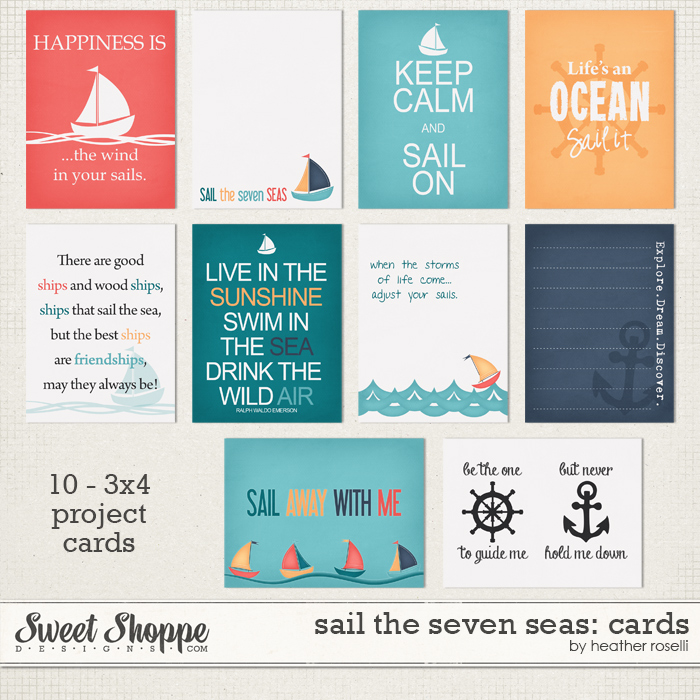 Sail The Seven Seas: Cards by Heather Roselli