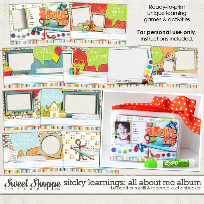 Sticky Learnings: All About Me Album by Heather Roselli & Rebecca Kuchenbecker