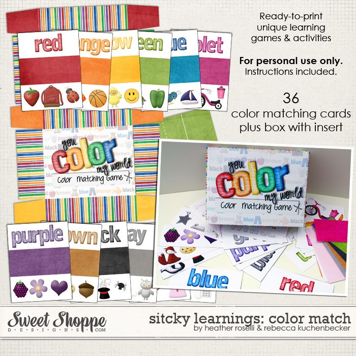 Sticky Learnings: Color Match by Heather Roselli and Rebecca Kuchenbecker