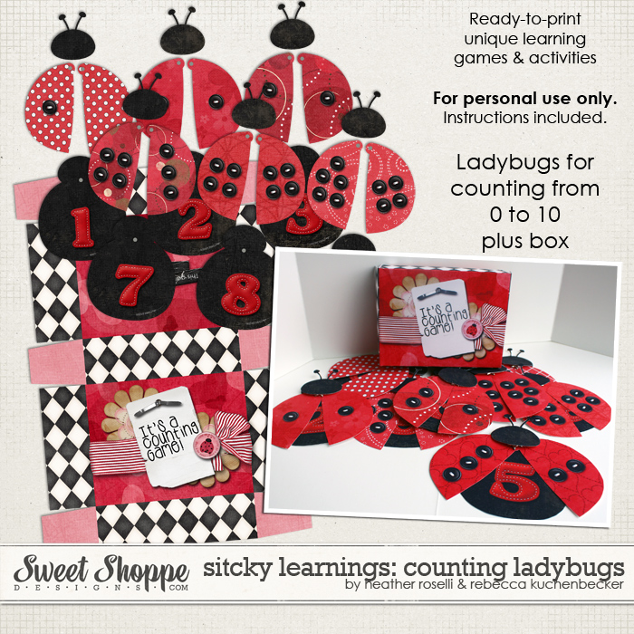 Sticky Learnings: Counting Ladybugs by Heather Roselli & Rebecca Kuchenbecker