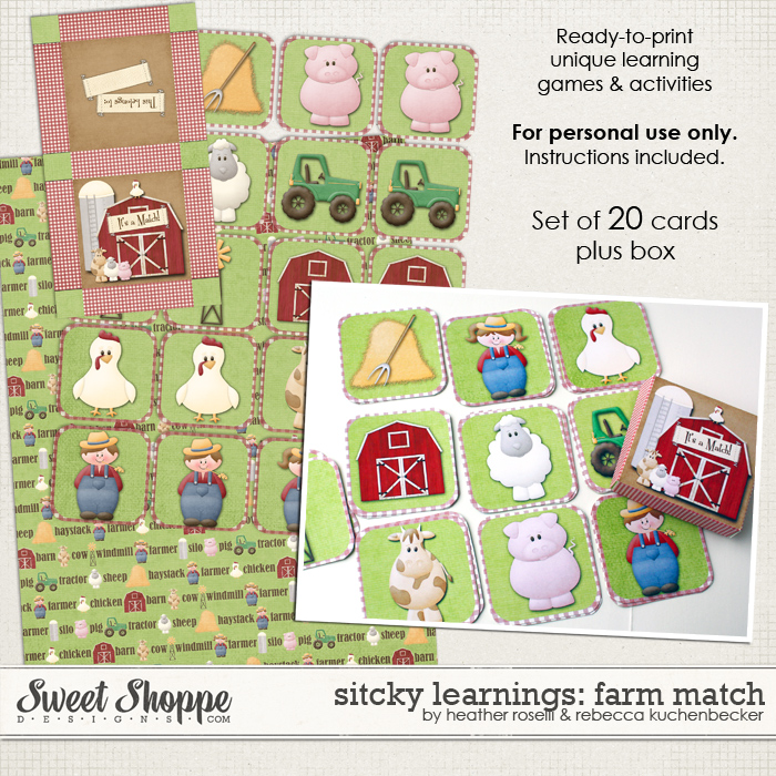 Sticky Learnings: Farm Match by Heather Roselli & Rebecca Kuchenbecker