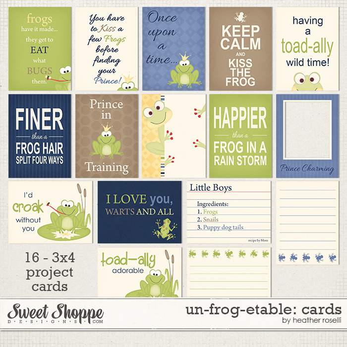 Un-frog-etable: Cards by Heather Roselli