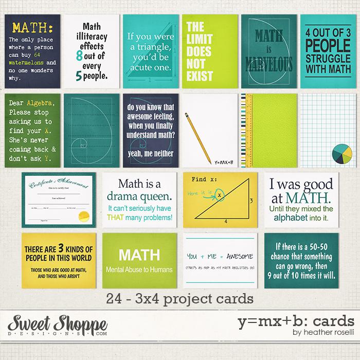 y=mx+b: Cards by Heather Roselli