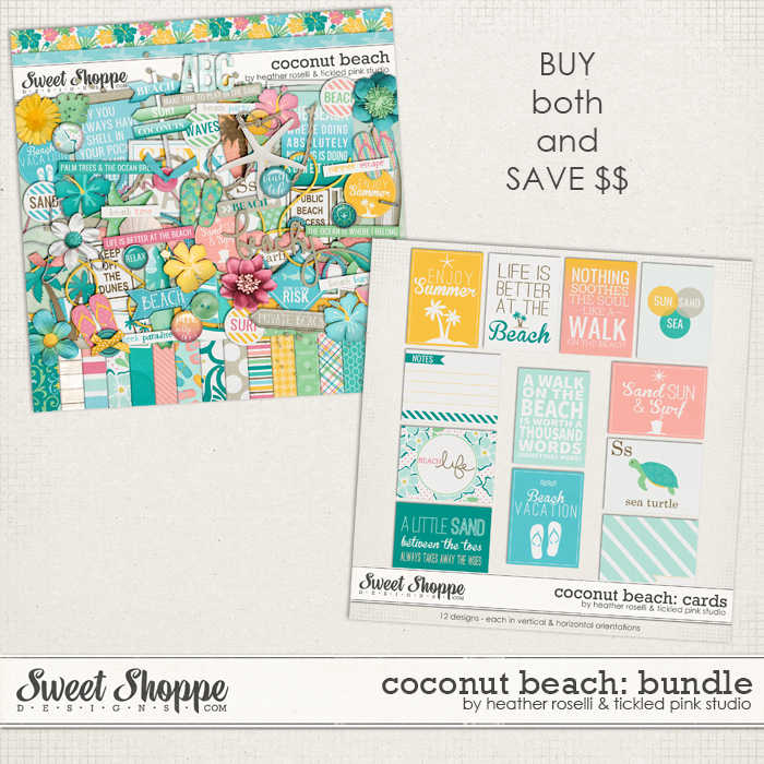 Coconut Beach Bundle by Heather Roselli & Tickled Pink Studio