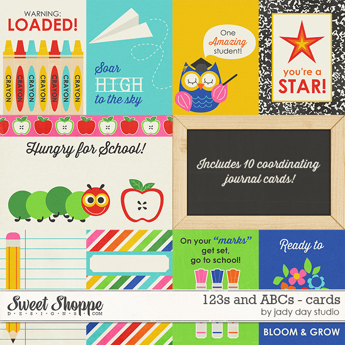 123s and ABCs - Cards by Jady Day Studio