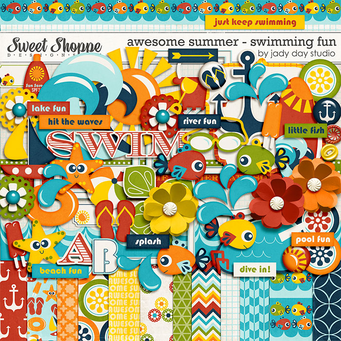 Awesome Summer - Swimming Fun by Jady Day Studio