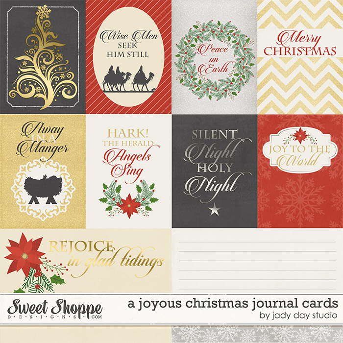 A Joyous Christmas Journal Cards by Jady Day Studio