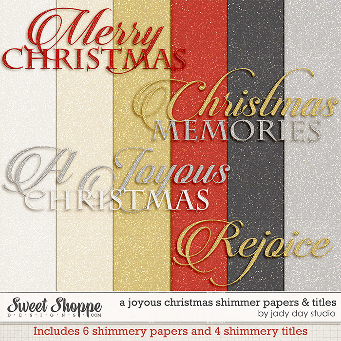 A Joyous Christmas Shimmer Papers & Titles by Jady Day Studio