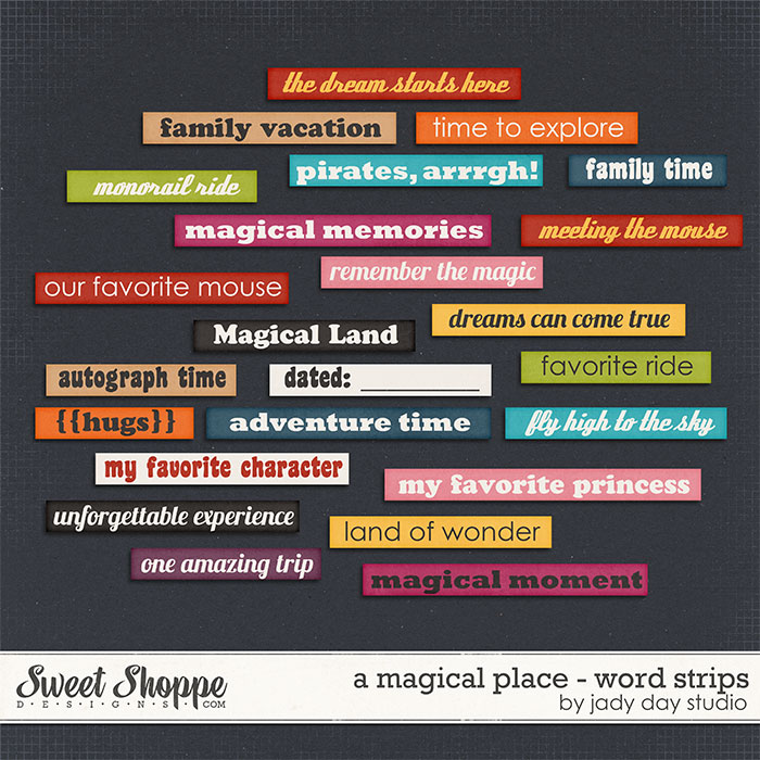 A Magical Place - Word Strips by Jady Day Studio