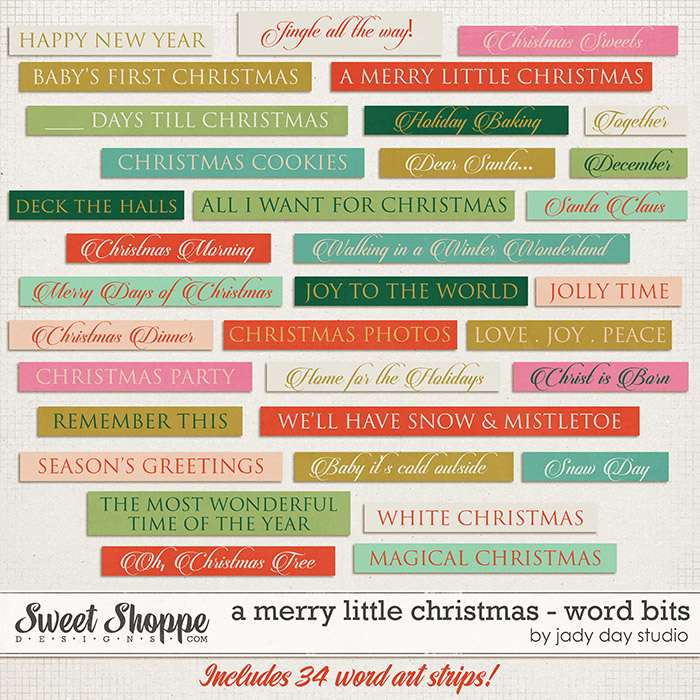A Merry Little Christmas - Word Bits by Jady Day Studio