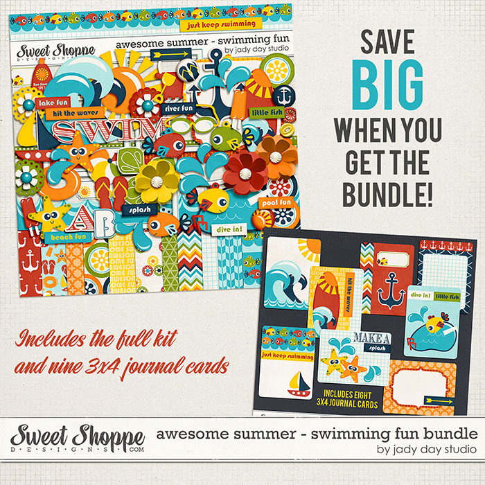 Awesome Summer - Swimming Fun Bundle by Jady Day Studio